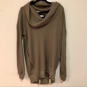 Anthropologie Pure Good Long Cowl-neck Sweater
